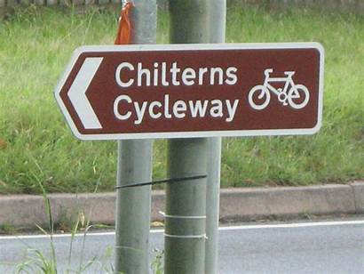 Chilterns Cycleway Sign Cycling