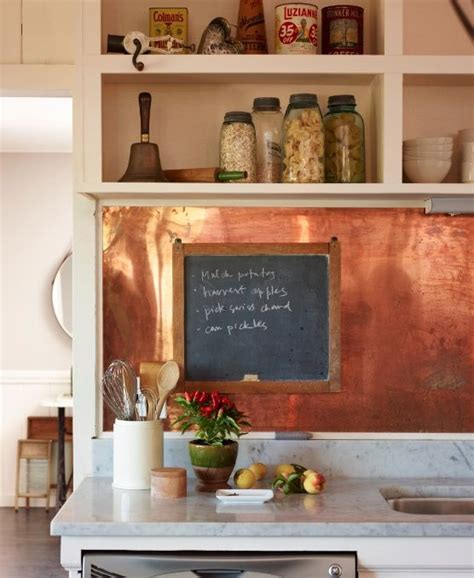 tin tiles for backsplash in kitchen 27 trendy and chic copper kitchen backsplashes digsdigs
