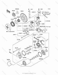 Kawasaki Motorcycle 2008 Oem Parts Diagram For Starter