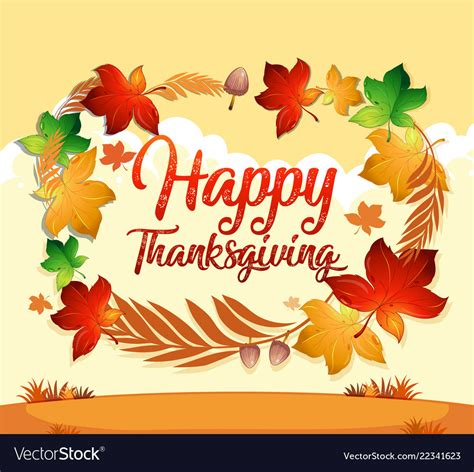 thanksgiving card email template a happy thanksgiving card template royalty free vector image
