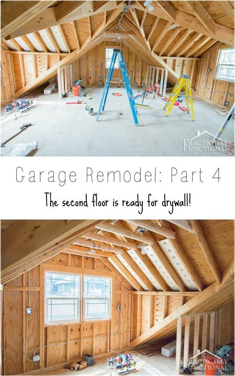 Garage Remodel Progress: Upper Floor Framing And