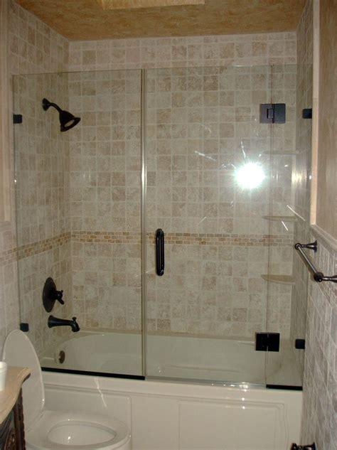 remodel  tub shower enclosure glass tub
