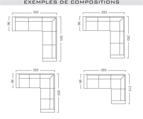 dimension canapé d angle dimension canape d angle