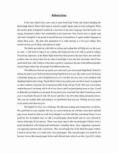 reflection paper sample format