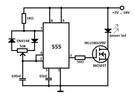 High Power Led Dimmer Circuit Electronics