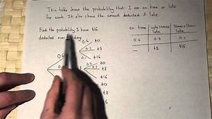 Probability   Probability Tree Diagrams With Three Branches