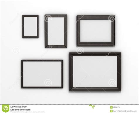 Set Of Black Frames Of Different Sizes On A White