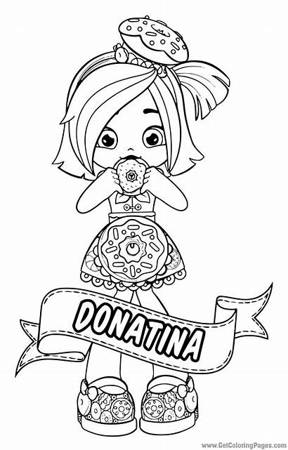 Shopkins Shoppies Dolls Shoppie Coloring Pages Doll