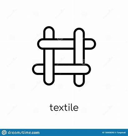 Textile Icon Vector Illustration Outline