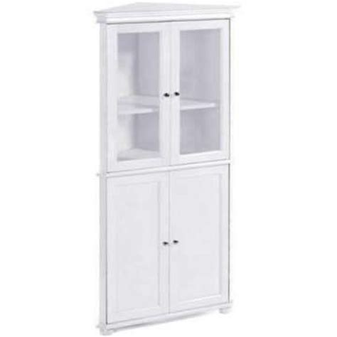 tall corner bathroom cabinet hton bay 25 quot w corner four door tall cabinet
