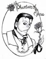 Phantom Opera Coloring Pages Colouring Printable Getcolorings Medallion Artwanted sketch template
