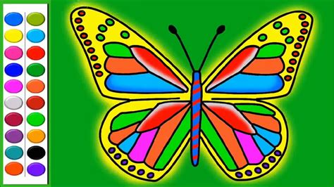 draw and color colours for learn how to colour and draw butterfly