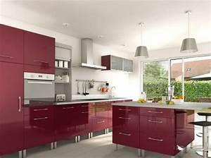 Exemple cuisine moderne cuisine castorama 25 best ideas for Idee deco cuisine avec cuisine couleur rouge bordeaux