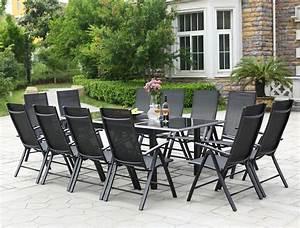 Salon De Jardin 8 Personnes : table de jardin extensible ravenne 12 chaises en aluminium concept usine ~ Teatrodelosmanantiales.com Idées de Décoration