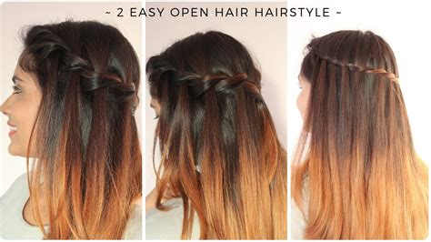 2 easy open hair hairstyle quick braided hairstyle for