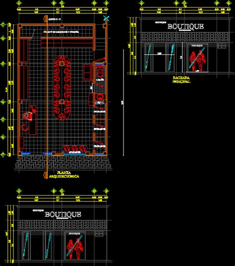 boutique clothing store dwg plan  autocad designs cad