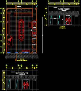 Boutique Clothing Store DWG Plan for AutoCAD • Designs CAD