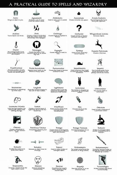Potter Spells Harry Camp Infographic Poster Update