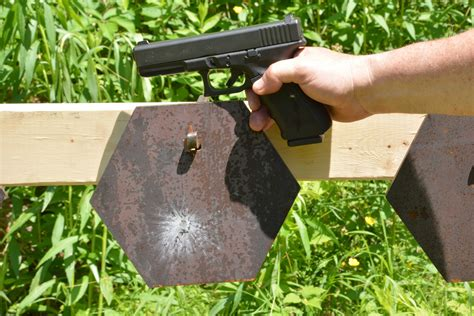 shooting illustrated shooter friendly steel mgm targets plate rack bucket mgm targets