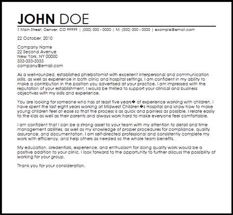 Phlebotomist Resume Cover Letter by Sle Phlebotomist Resume For Resumes Best Resume