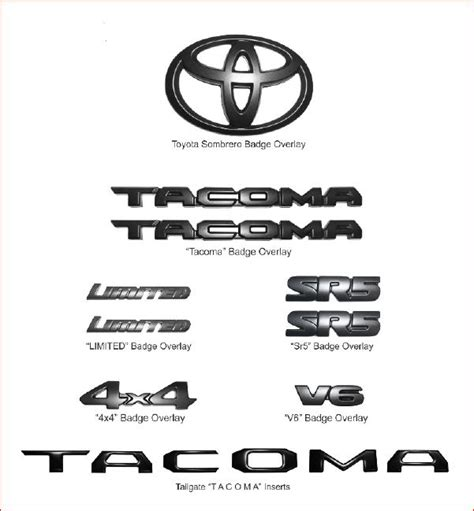 toyota tacoma letter font template exterior pure tacoma accessories parts and accessories