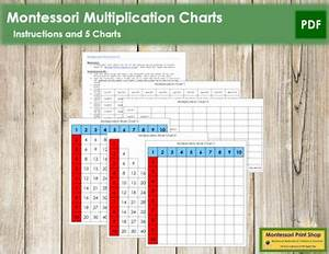 Montessori Multiplication Charts Instructions By