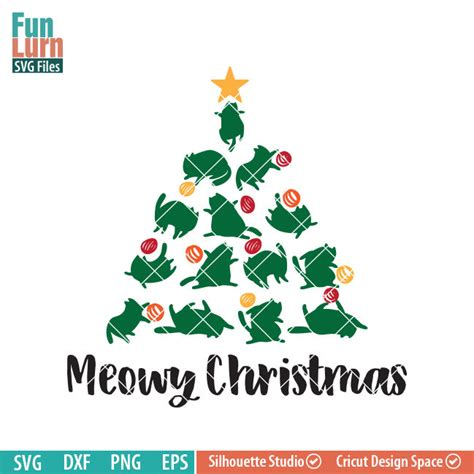 From wikimedia commons, the free media repository. Cat Christmas Tree svg - FunLurn