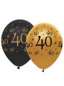 tentures mariage 6 ballons noir et or 40 ans décoration anniversaire et fêtes à thème sur vegaoo