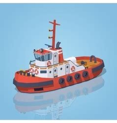 Tugboat Vector Question by Low Poly Lighthouse Royalty Free Vector Image Vectorstock