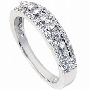 1 4ct diamond anniversary wedding ring 10k white gold With anniversary wedding rings