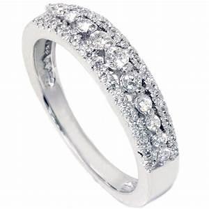 1 4ct diamond anniversary wedding ring 10k white gold With wedding anniversary rings diamonds