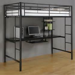 Xl Twin Bunk Beds by Walker Edison Metal Twin Loft Bed With Computer