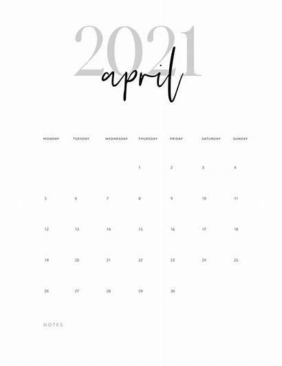 Calendar 2021 Printable Cursive March April Pages