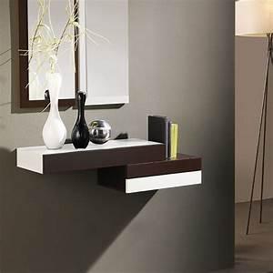 Console Murale Suspendue : meuble commode entree avec miroir ~ Teatrodelosmanantiales.com Idées de Décoration