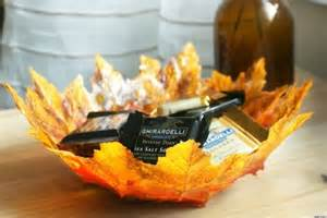 thanksgiving crafts create autumn leaf bowls