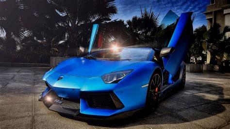 Blue Lamborghini Hd Wallpapers by Lamborghini Aventador Blue Wallpaper Hd Hd Wallpaper