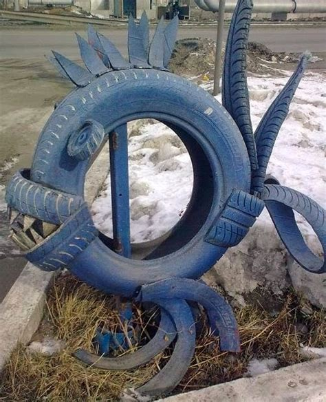 Tire Recycling Ideas  23 Animalshaped Garden Decorations