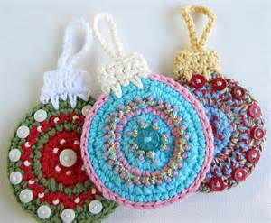 Button and Bead Christmas Ornament Patterns