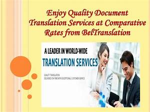 enjoy quality document translation services at comparative With document translation prices