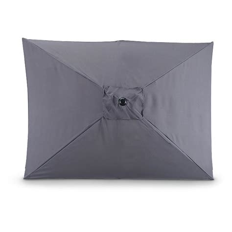 castlecreek rectangle market umbrella gray 234731