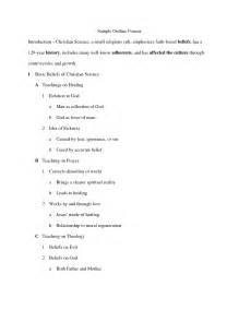 basic outlines sle apa style research paper format