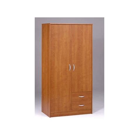 armoire de rangement chambre armoire de rangement 2 portes 2 tiroirs bibana achat