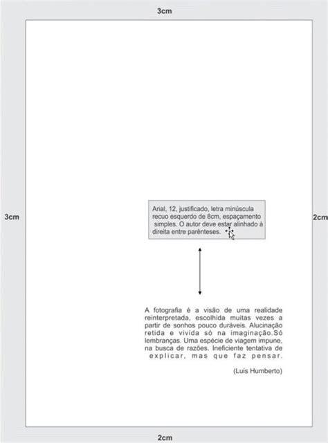 formatação de tcc e monografia nas normas da abnt formatação epígrafe segundo as normas da abnt abnt