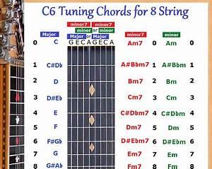 C6 Chord Chart For 8 String Lap Steel Dobro Guitar Ebay