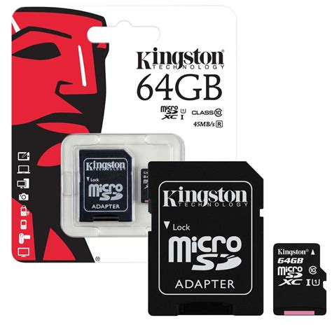 gb kingston micro sd sdxc memory card class  mbs