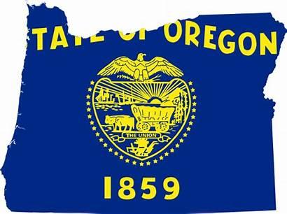 Oregon Flag Map Clipart Drapeau Clip State