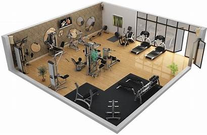 Gym Layout 3d Equipment Fitness Plans Decor