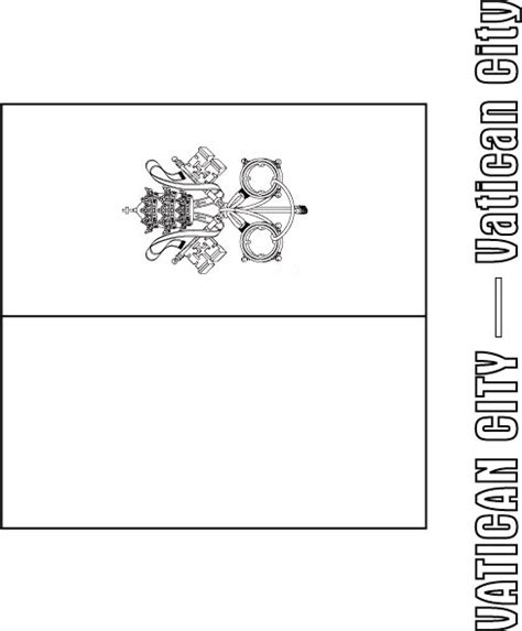 Vatican City Flag Coloring Page  Download Free Vatican