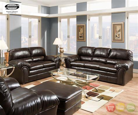 riverside vintage brown plush bonded leather living room