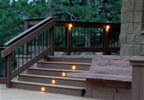 solar lights for deck stairs deck design ideas
